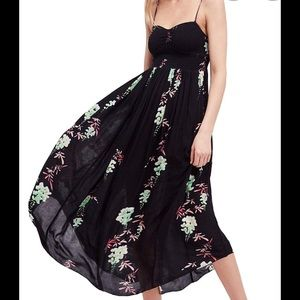 Free People Beau Smocked Floral Maxi Dress